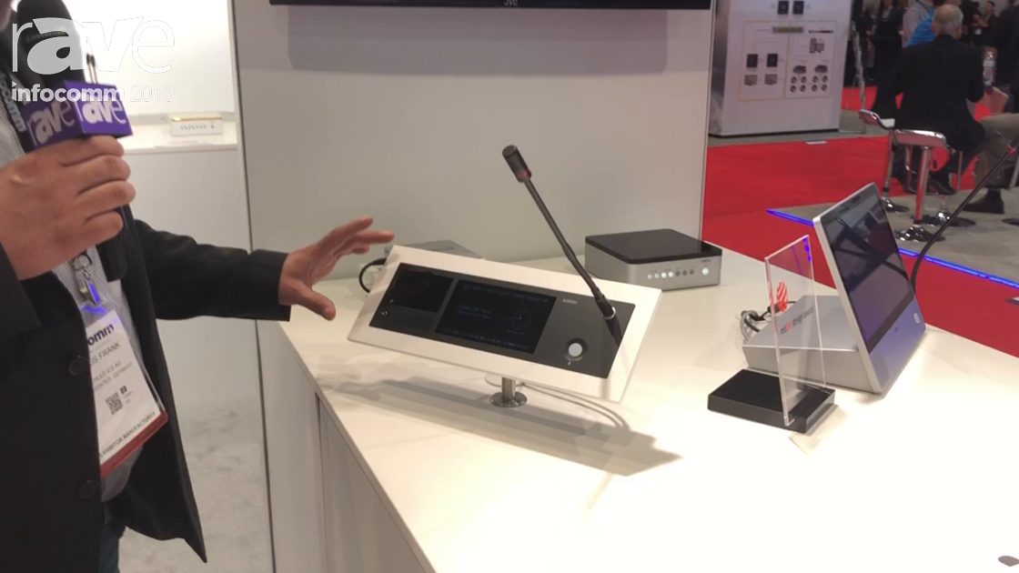 InfoComm 2018: Brahler Intros ICS SMic 133 Flash Mount Conferencing Unit With Integrated TouchScreen