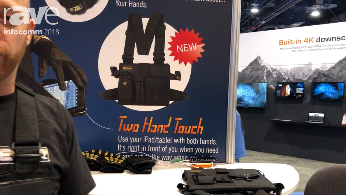 InfoComm 2018: Gig Gear LLC Shows Two Hand Touch, a Wearable iPad and Tablet Case for Professionals