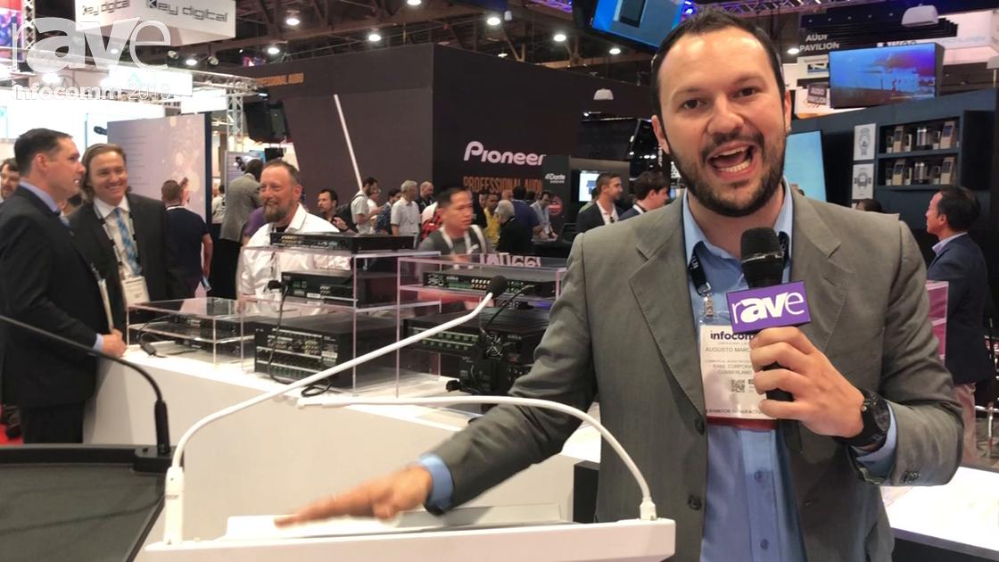 InfoComm 2018: Denon Professional Demos Lectern Active With Active Speaker and Gooseneck Microphone