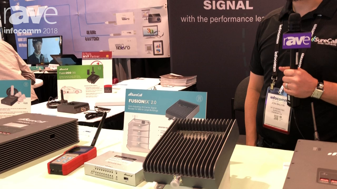 InfoComm 2018: SureCall Features FUSION 5X 2.0 Auto-Adjusting Cell Phone Signal Booster