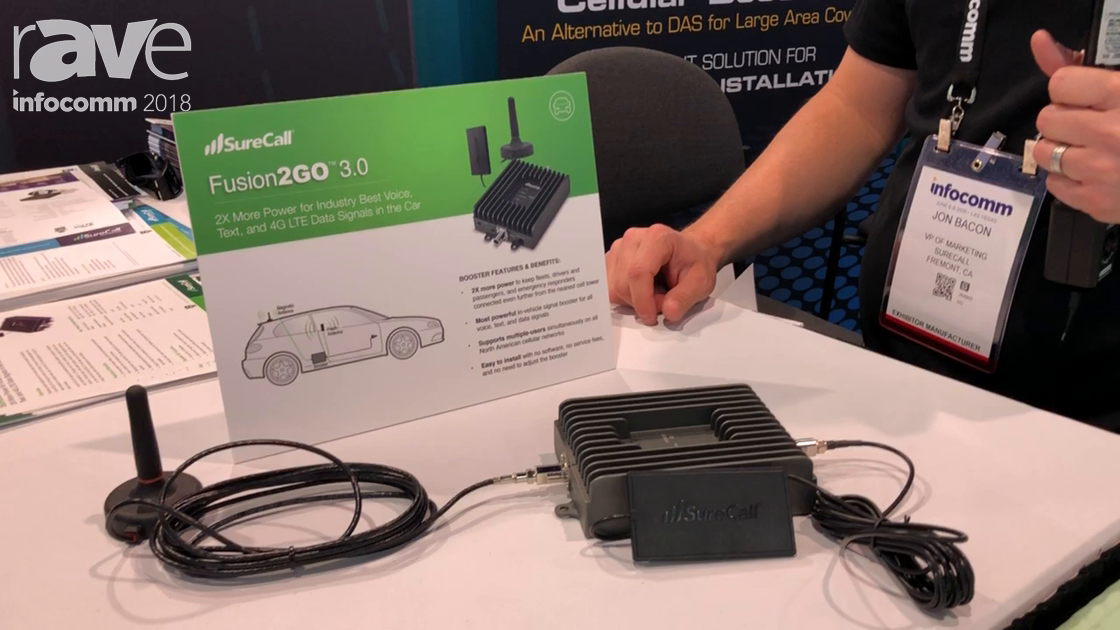 InfoComm 2018: SureCall Highlights Fusion2GO 3.0 Cell Phone Signal Booster for Mobile Installs