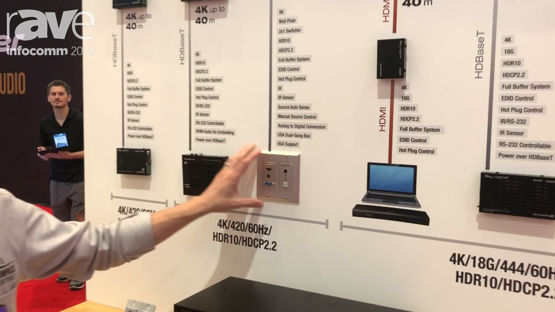 InfoComm 2018: Key Digital Unveils the KD-SX440WP 2×1 4K Switcher With Autoswitching