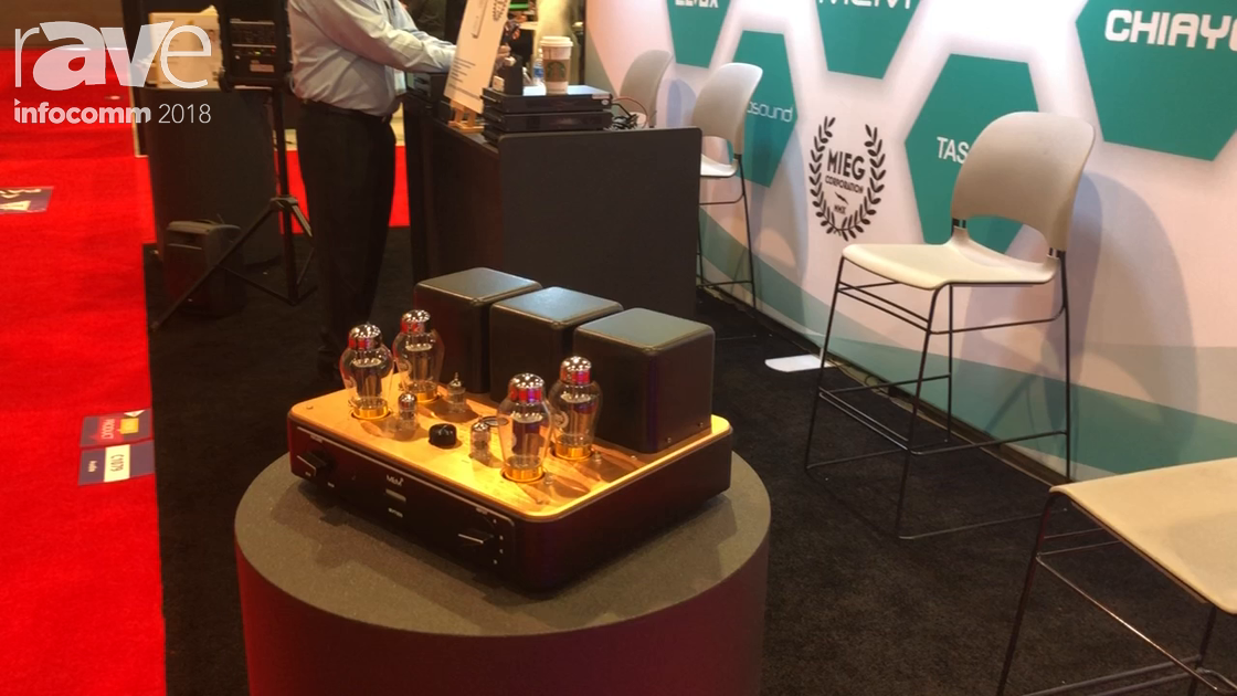 InfoComm 2018: MIEG Shows Off Its Handmade MVT555 Tube Amplifier