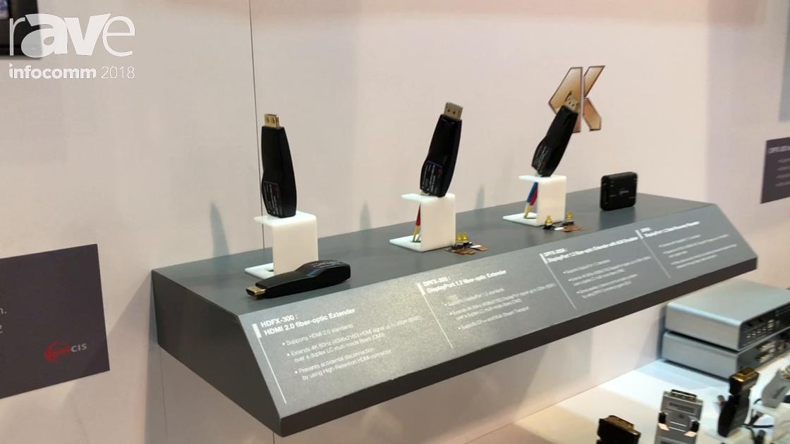 InfoComm 2018: Opticis Features the HDFX-300 HDMI 2.0 Fiber Optic Extender
