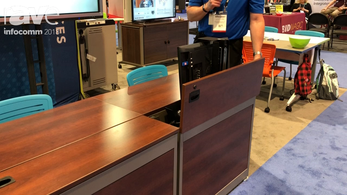 InfoComm 2018: Spectrum Industries Demos Flexinsight Desk Work Station for Training and Classrooms