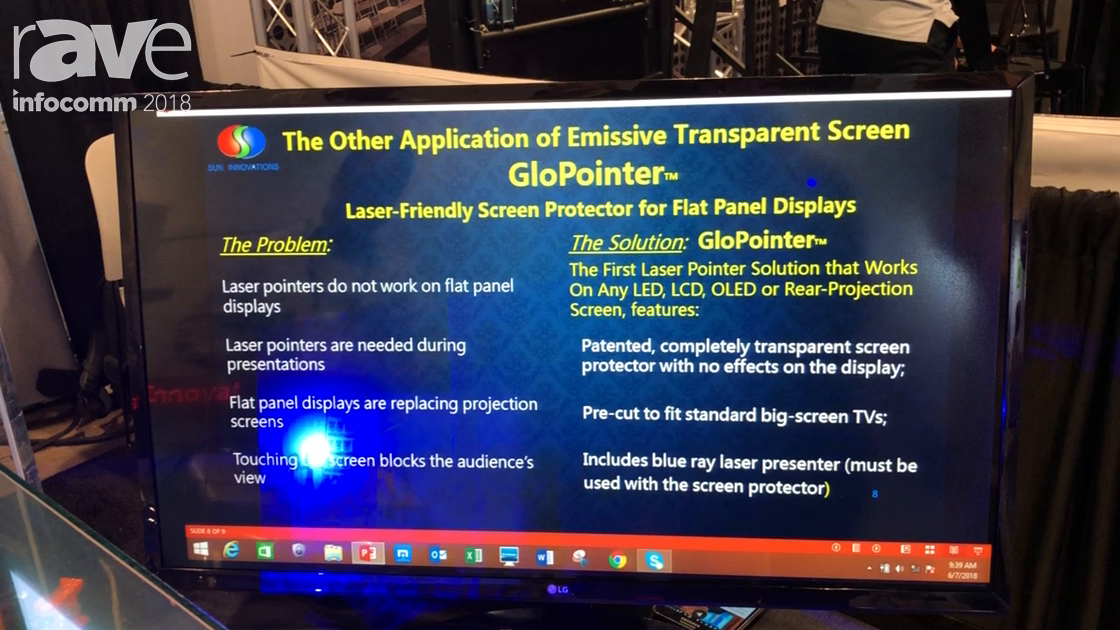 InfoComm 2018: Sun Innovations Talks About the GloPointer Emissive Screen Protector