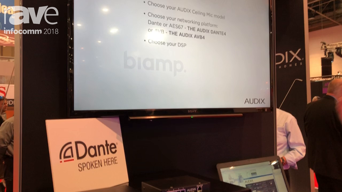 InfoComm 2018: Audix Microphones Introduces the New Dante AVB and AES67 Conferencing Ceiling Mics
