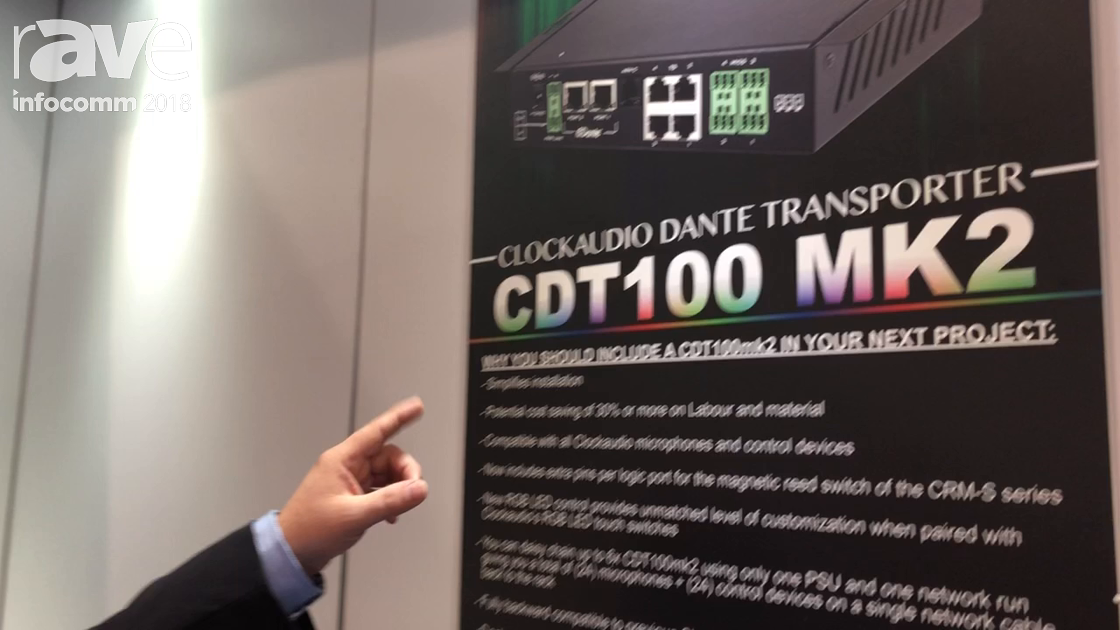 InfoComm 2018: Clockaudio Highlights the CDT100 MK2 Dante Transporter With AES67 Compatibility
