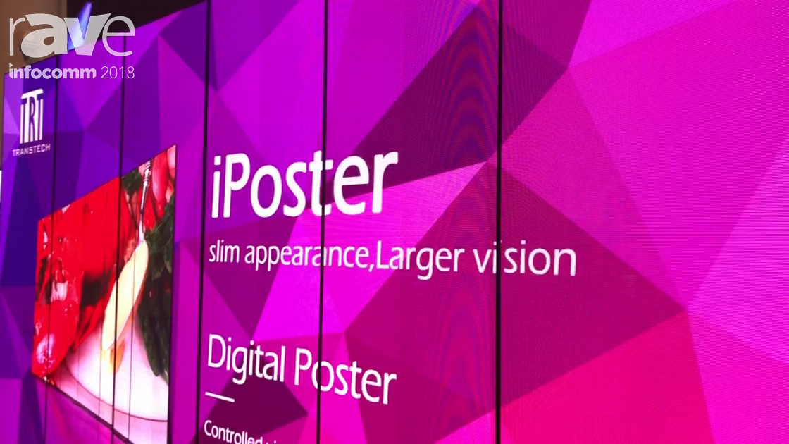 InfoComm 2018: TRT Transtech Demos iPoster P2.5 For Retail Applications