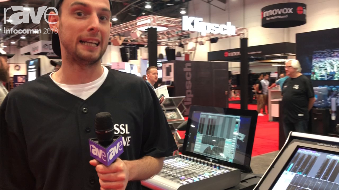 InfoComm 2018: Solid State Logic Debuts the SL100 Live Mixing Console and Live Fader Expander Tile