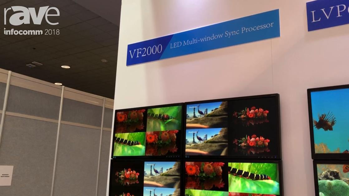 InfoComm 2018: VDWall Exhibits VF2000 LED 34 Window Videowall Processor