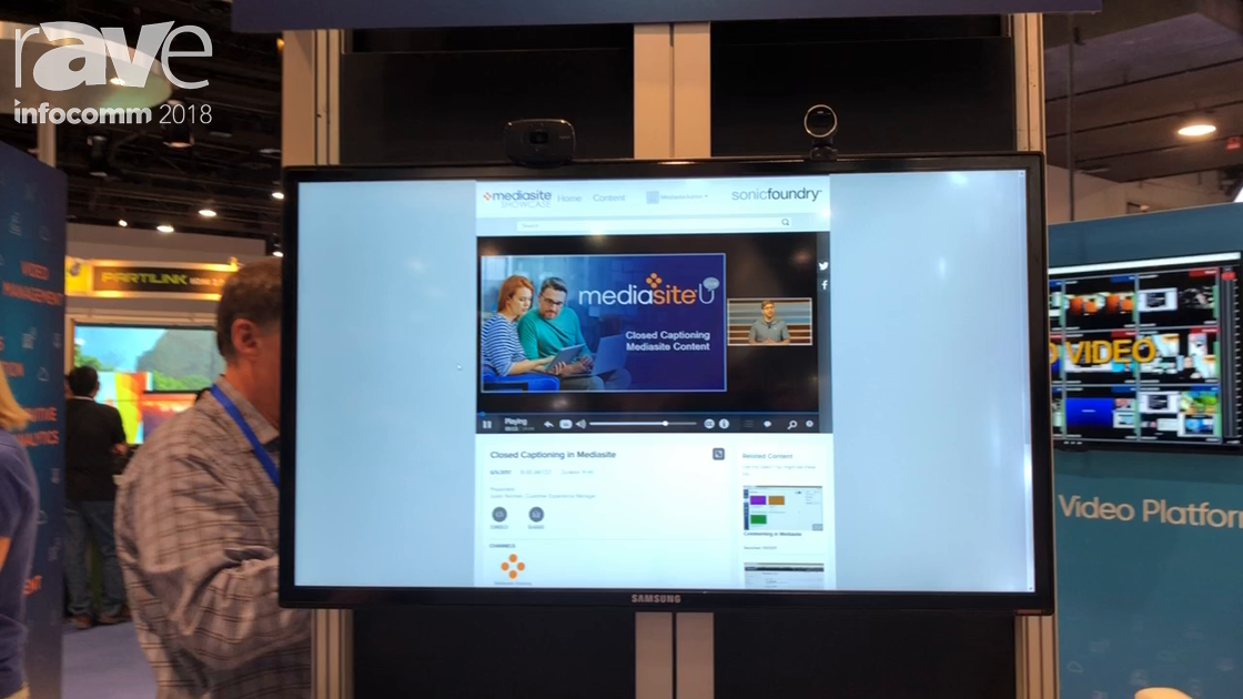 InfoComm 2018: Mediasite Demos Mediasite Showcase for Corporate YouTube Channels