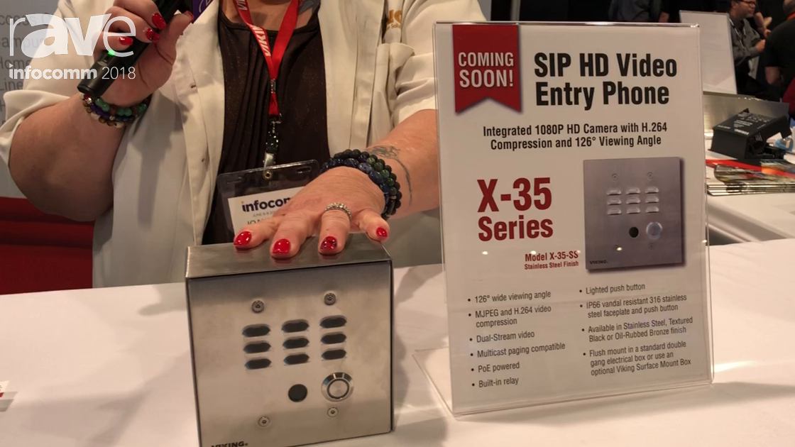 InfoComm 2018: Viking Electronics Shows Off the X-35 SIP HD Video Entry Phone