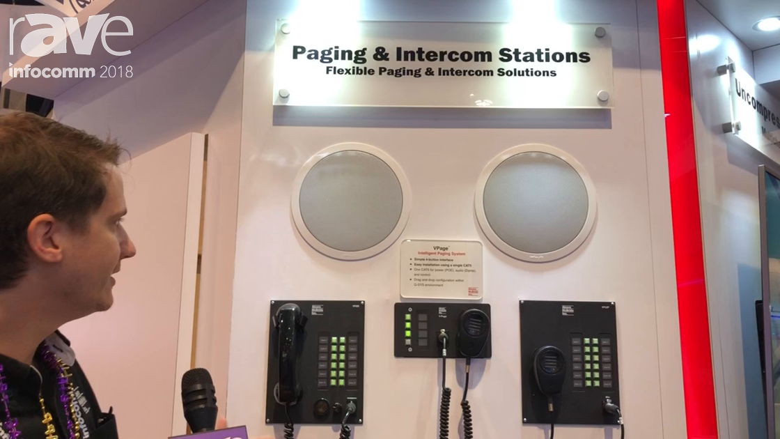 InfoComm 2018: Alcorn McBride A/V Shows Paging and Intercom Stations with Q-SYS Integration