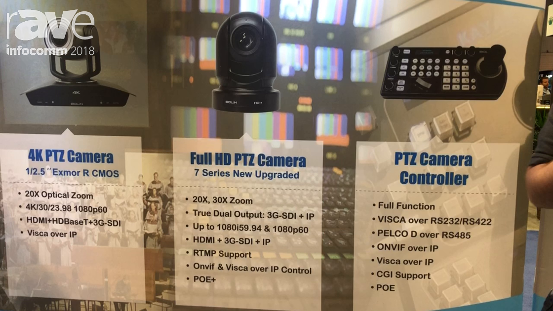 InfoComm 2018: Bolin Technology Introduces 7 Series Full HD PTZ Camera