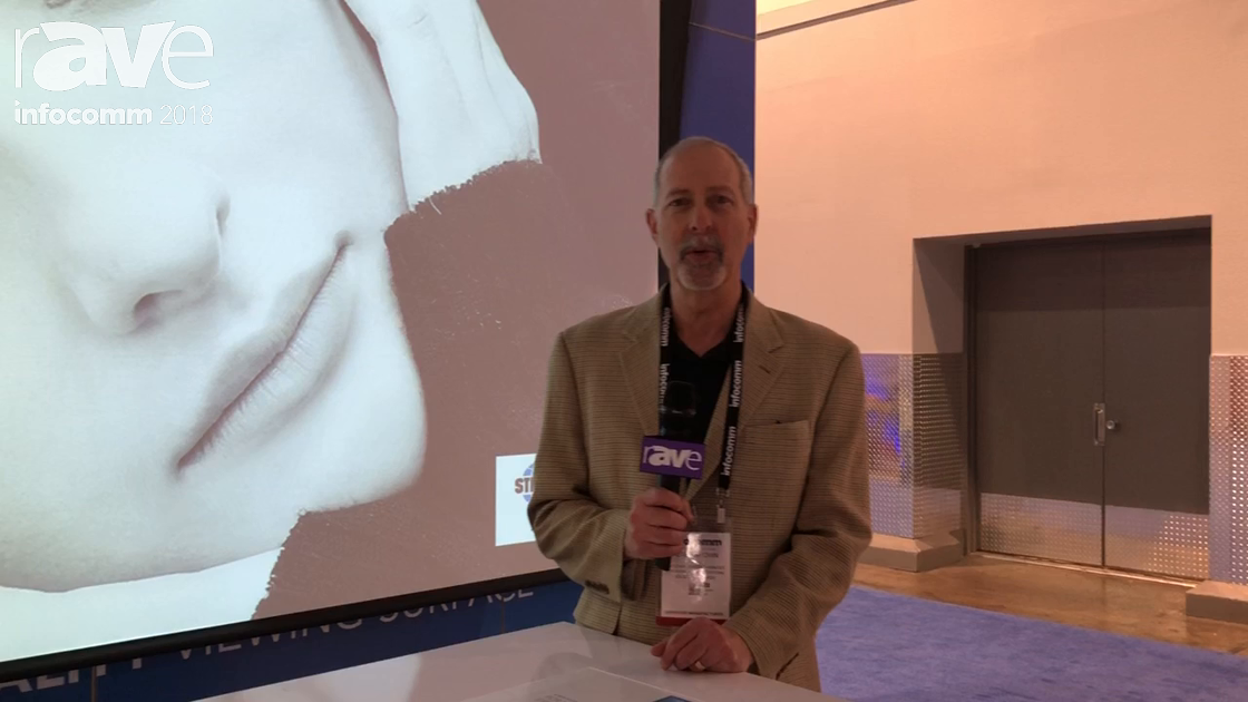 InfoComm 2018: StrongMDI Shows Off Poliview Small-Venue Tensioned Motorized Screen