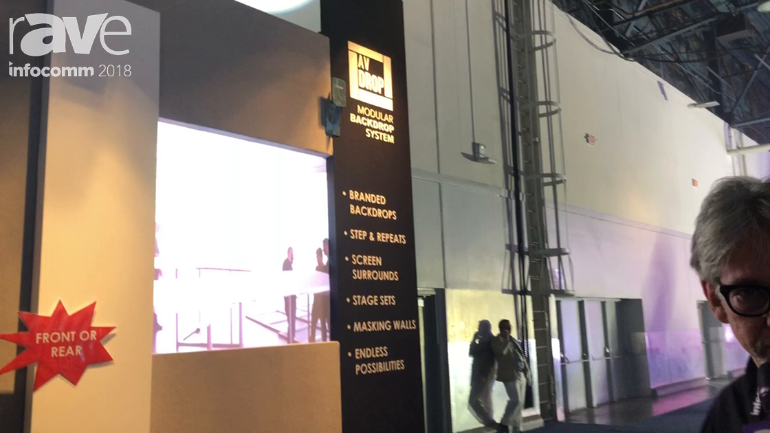 InfoComm 2018: Drape Kings Highlights AV-Drop Modular Solution for Scenic Backdrops