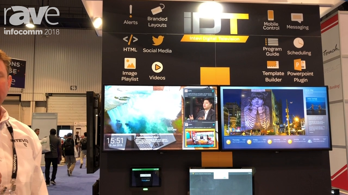 InfoComm 2018: Intevi Features Digital Booking Digital Television System for IPTV & Digital Signage