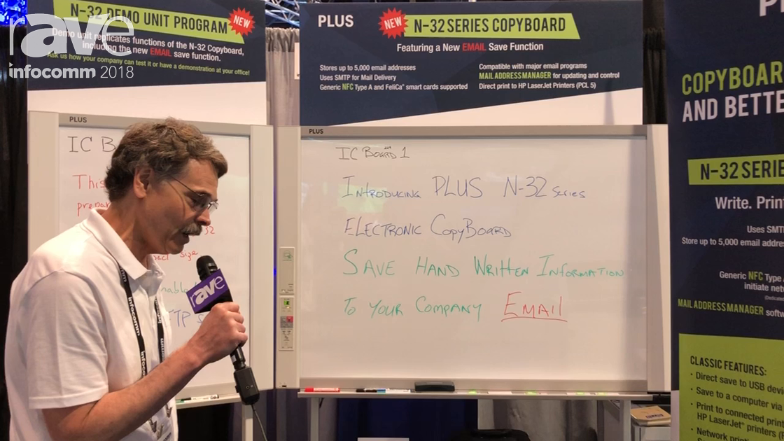 InfoComm 2018: PLUS Shows N-32 Series Copyboard, a Networked Whiteboard