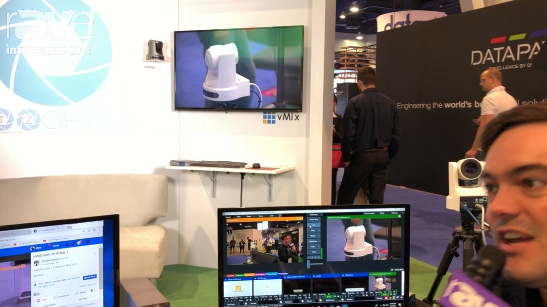 InfoComm 2018: PTZOptics Demos Live Streaming Systems for Android, VMix and NDI