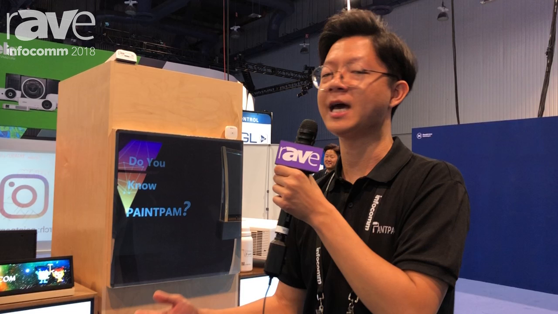 InfoComm 2018: Paint Pam Demos S-Paint for Converting Glass into Temporary Projection Surfaces