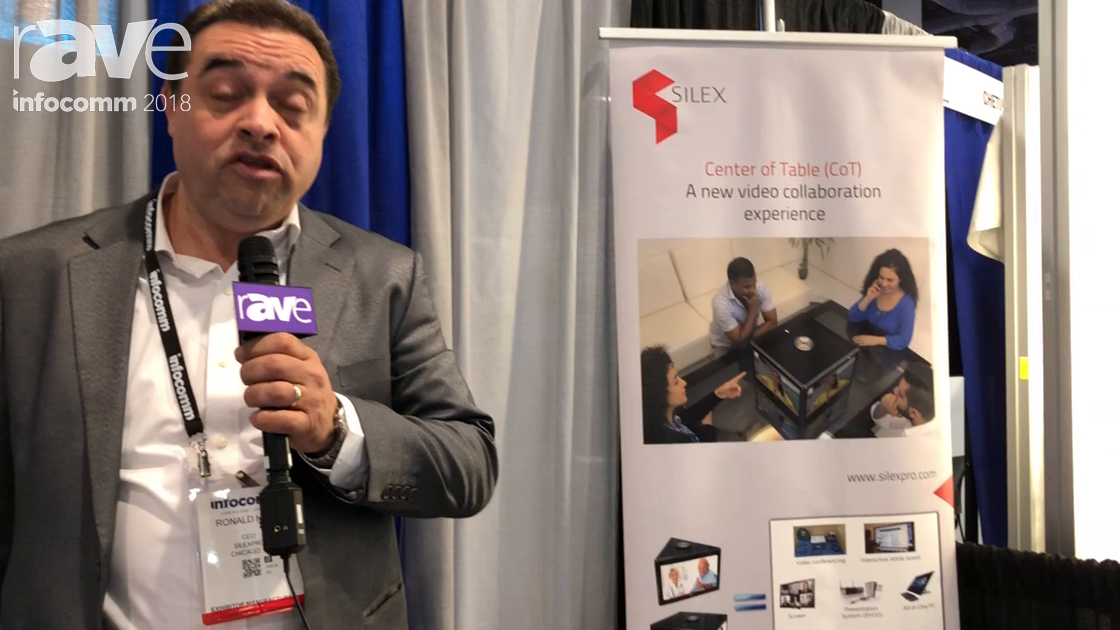 InfoComm 2018: Silexpro Shows PTE, an All-in-One Centre of Table (CoT) Visual Collaboration System