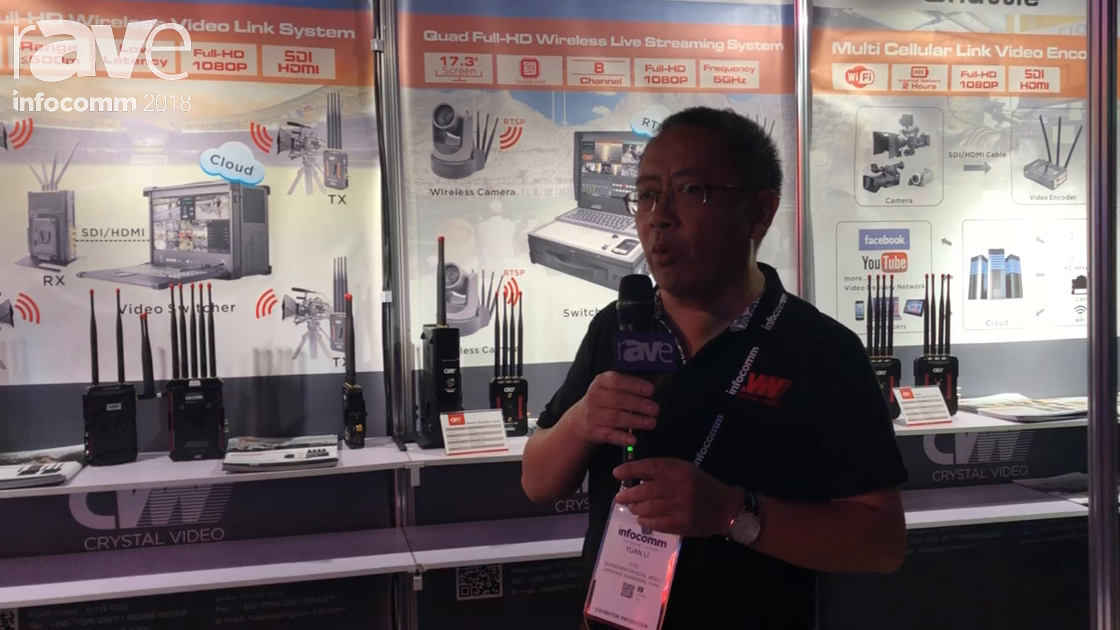 InfoComm 2018: Shenzhen Crystal Video Technology Shows Beamlink-Quad Video Solution for Live Events