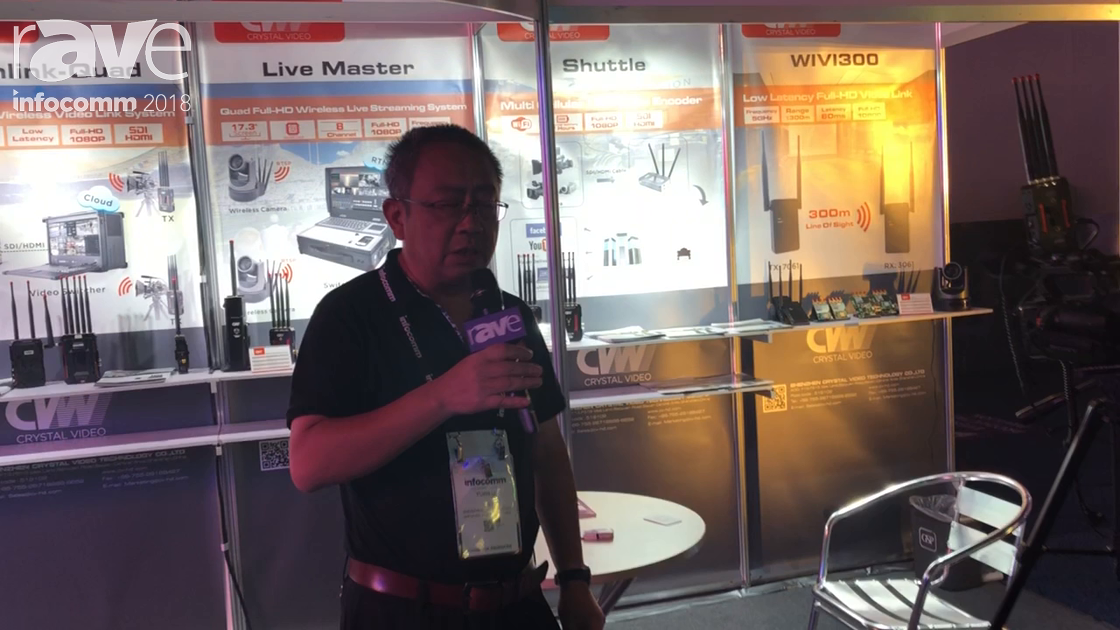 InfoComm 2018: Shenzhen Crystal Video Technology Shows Integrated Video Switch for Live Streaming