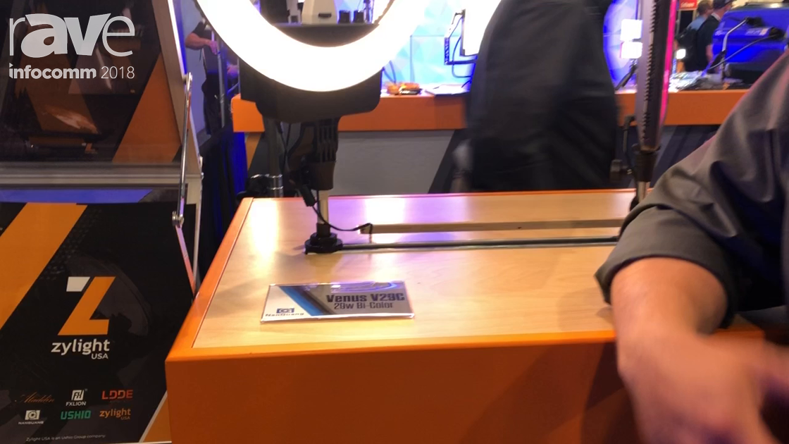 InfoComm 2018: Zylight Shows Off Venus V29C LED Ring Light