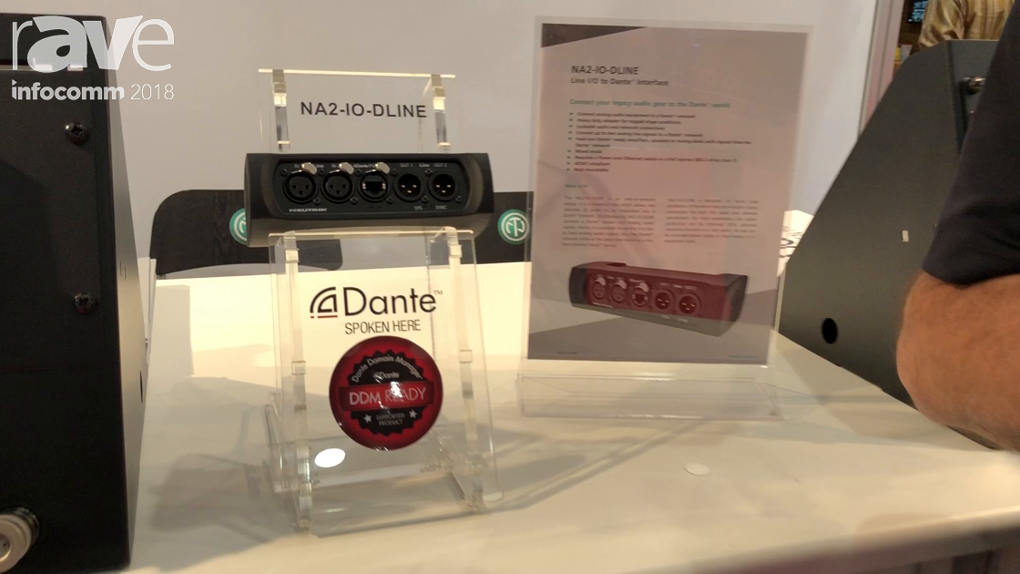 InfoComm 2018: Neutrik Features NA2-IO-DLINE Dante Box