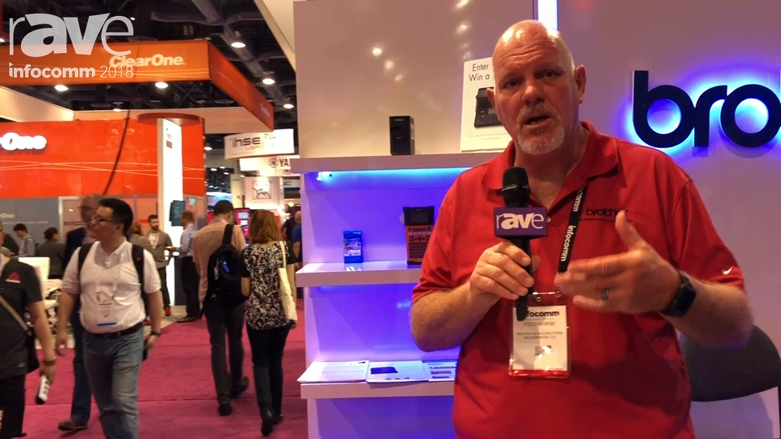 InfoComm 2018: Brother Mobile Solutions Presents PTE550W Field Labeling Printer with HalfCut Feature
