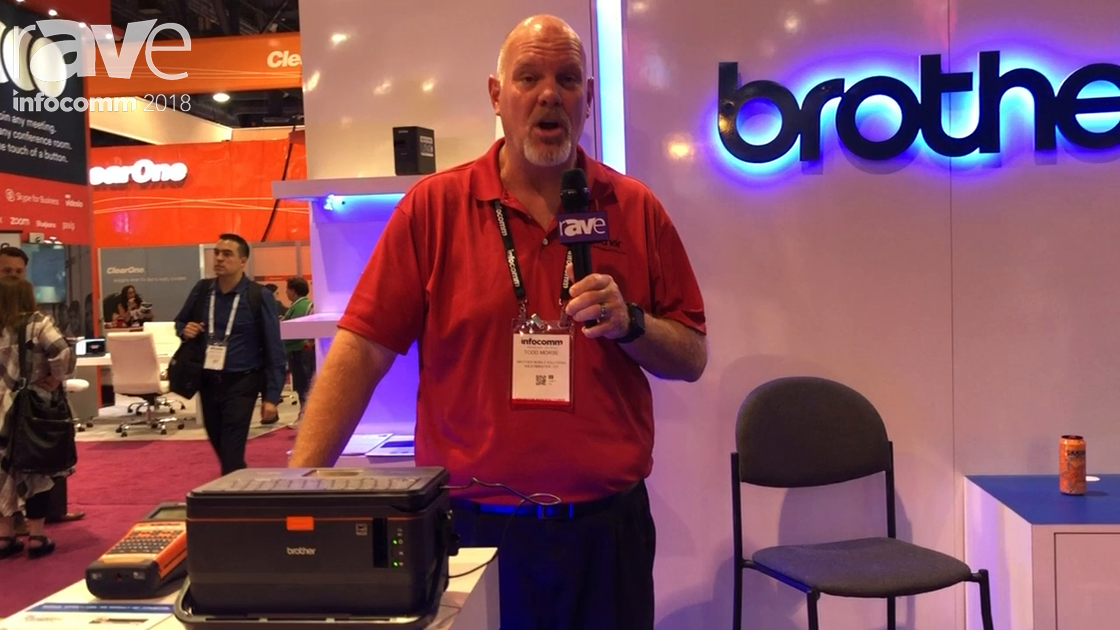 InfoComm 2018: Brother Mobile Solutions Shows PTE800W Mobile Desktop Label Printer with Mobile App