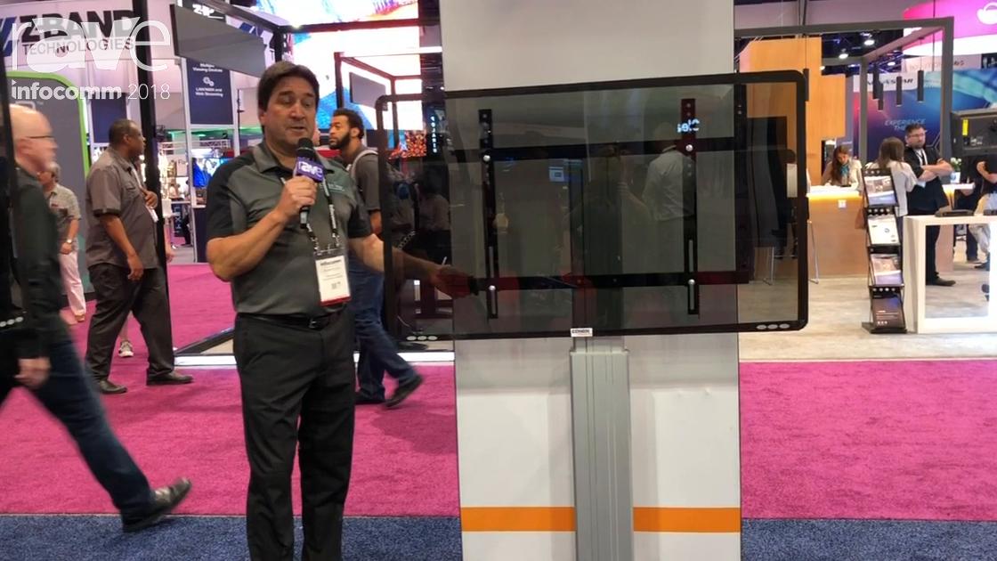 InfoComm 2018: Conen Mounts Features Sceta Lite Motorized High-Adjustable Wall Mount