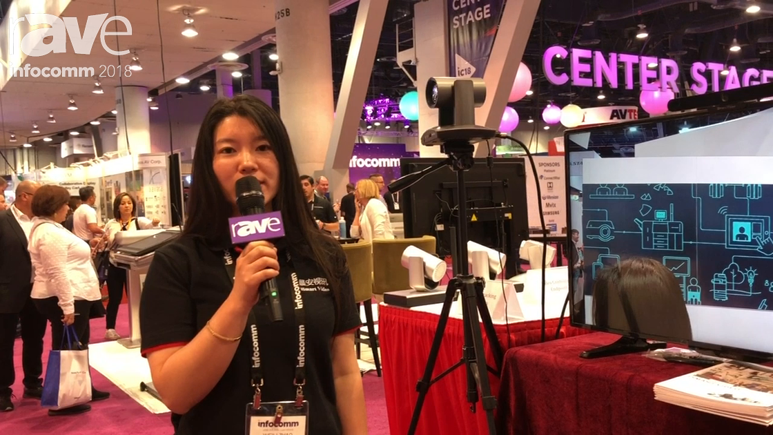 InfoComm 2018: ISmart Video Demos IR Speaker Tracking Camera