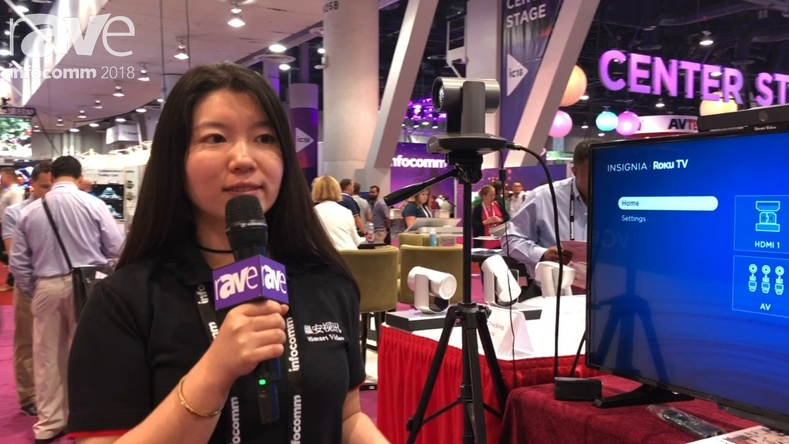 InfoComm 2018: ISmart Video Shows Auto Tracking EPTZ Camera and 4K HD PTZ Camera