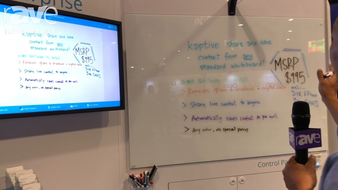 InfoComm 2018: Kaptivo Demos Whiteboard Camera Device for Digital Collaboration