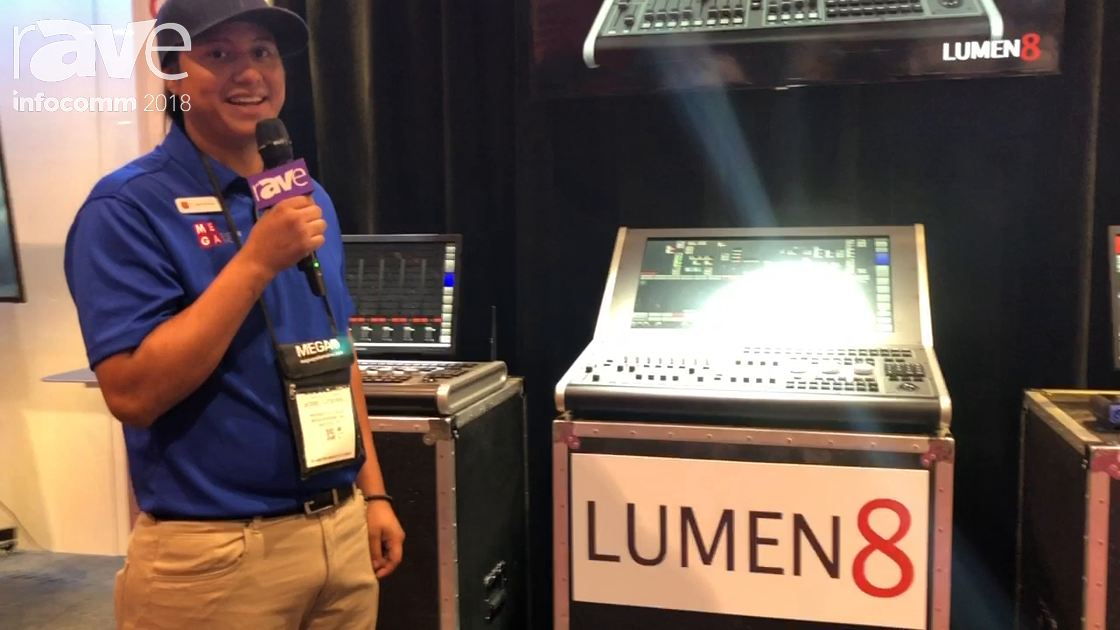 InfoComm 2018: Mega Systems Features Lumen8 Lighting Console Control System