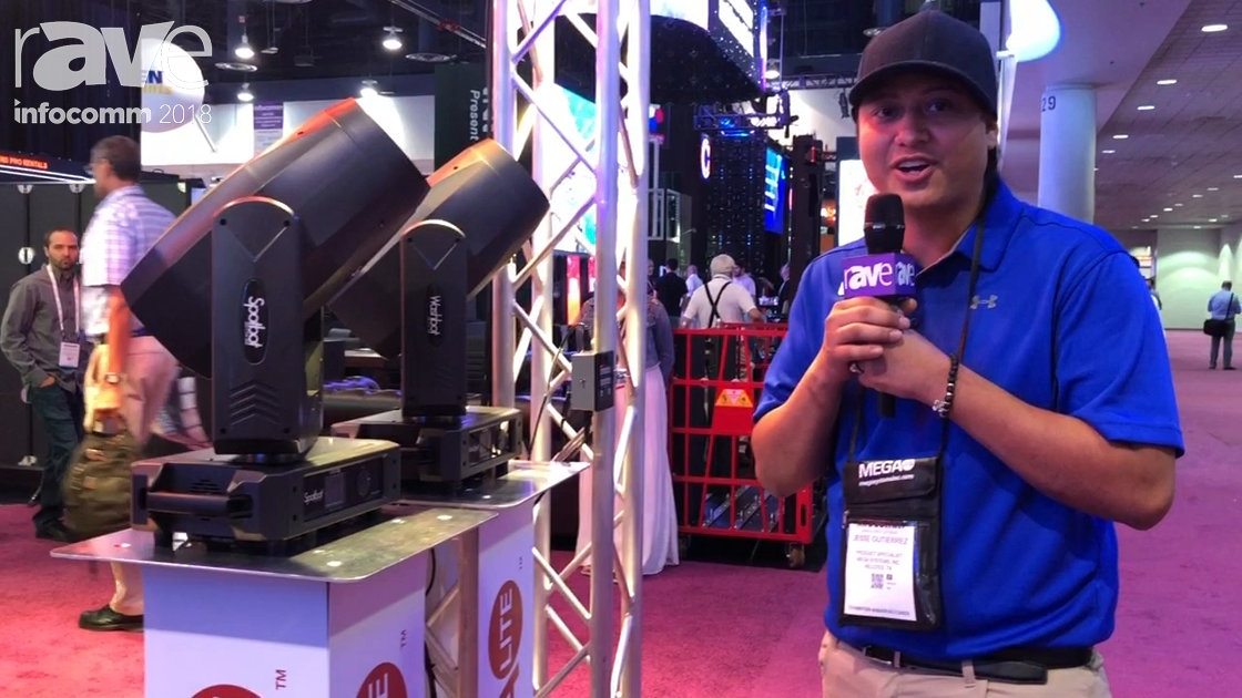 InfoComm 2018: Mega Systems Showcases Spotbot LED CYM 300 and Washbot LED Fixtures