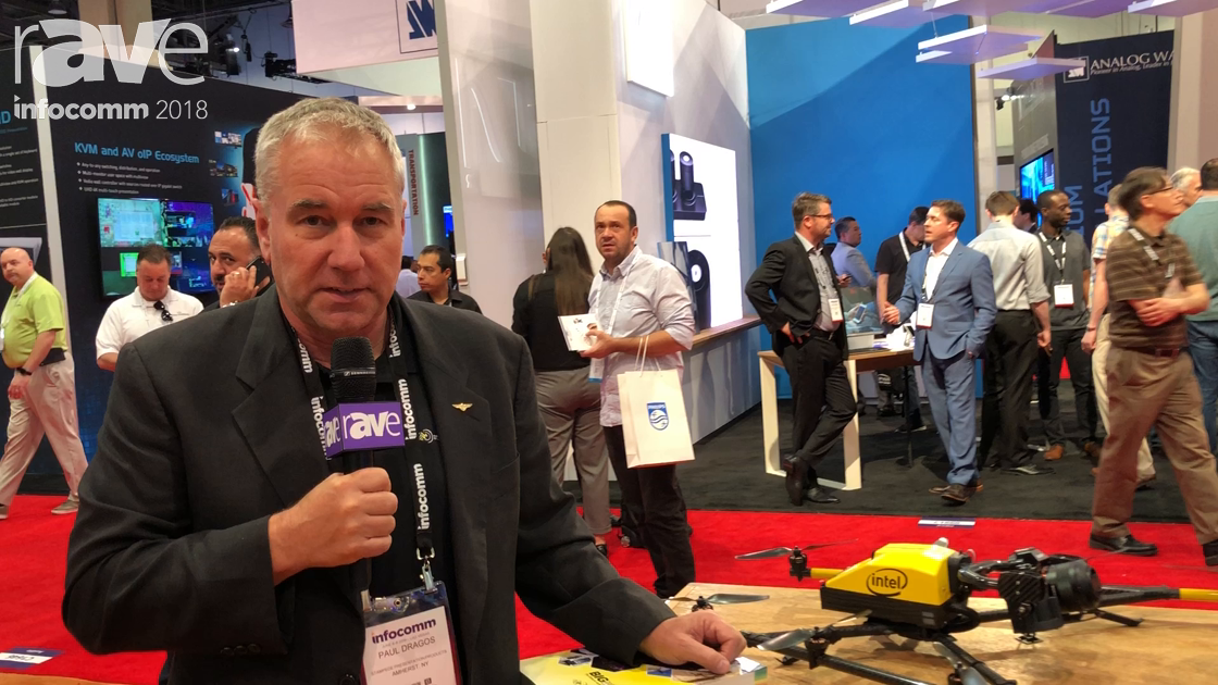 InfoComm 2018: Stampede Global Presents Intel Falcon 8 Plus Drone with DSLR Camera