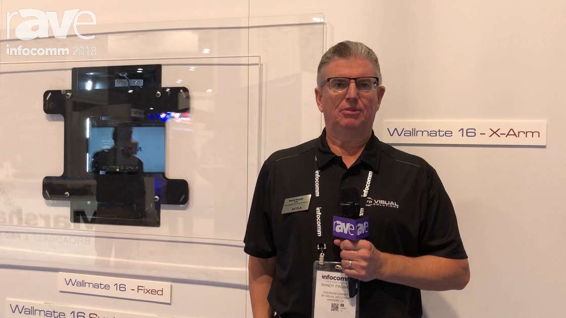InfoComm 2018: rp Visual Solutions Features Wallmate 16 Series with Fixed or X-Arm Mounts