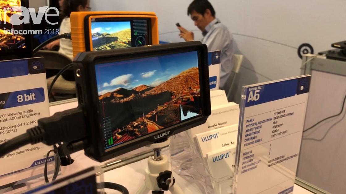 InfoComm 2018: Lilliput Demos the A5 4K Field Video Monitor