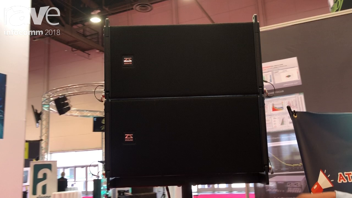 InfoComm 2018: ZSound Shows Off Its Line Array Speakers