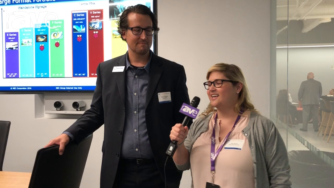 NEC Display 2018: Ryan O'Halloran Shows Sara Abrons the Executive Briefing Center Boardroom Vignette