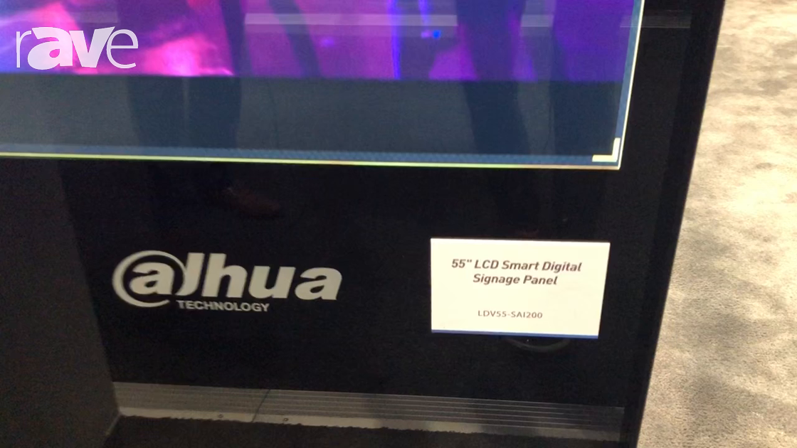 Integrate 2018: Dahua Technology Shows Off LDV55-SAI200 Digital Billboard Series