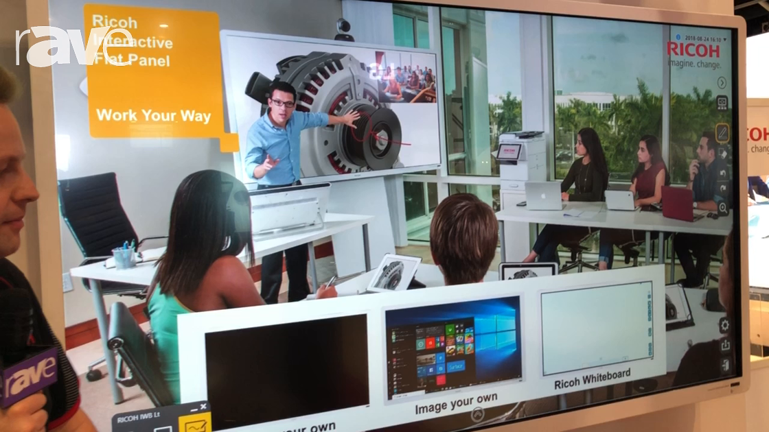 Integrate 2018: Ricoh Presents 84″ UHD Interactive Whiteboard with Windows 10