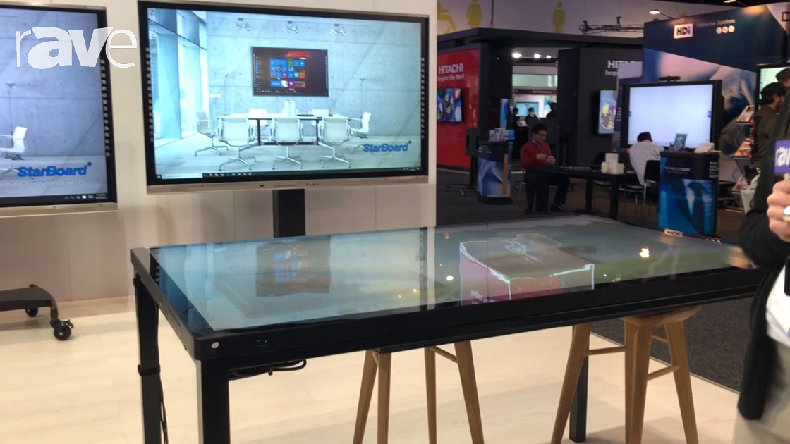 Integrate 2018: Starboard Introduces 75″ Capactive Touch Table Display for Collaboration