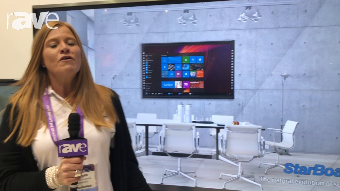 Integrate 2018: Starboard Shows 90″ Interactive Flat Panel With Side-Panel Control Buttons