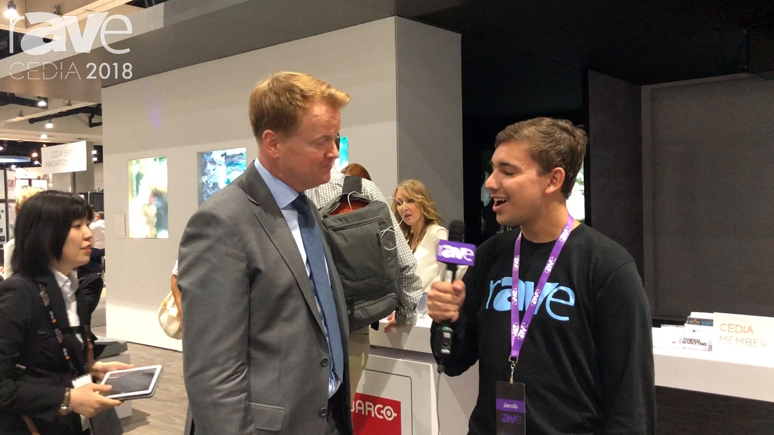 CEDIA 2018: Jacob Blount Interviews Barco Residential's Tim Sinnaeve