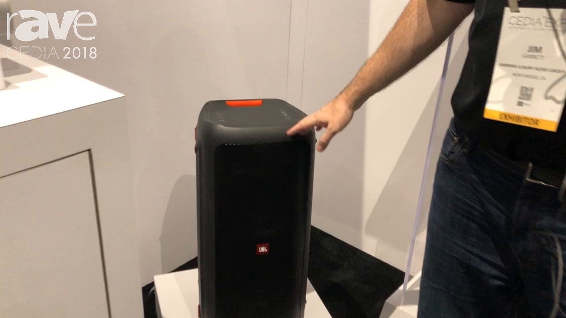 CEDIA 2018: JBL Shows Party Box, a BlueTooth-Enabled Portable Speaker With Cool Lights