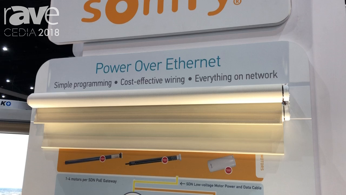 CEDIA 2018: Somfy Systems Shows PoE Gateway for Taking Power and Data to Its Shade Motor Systems